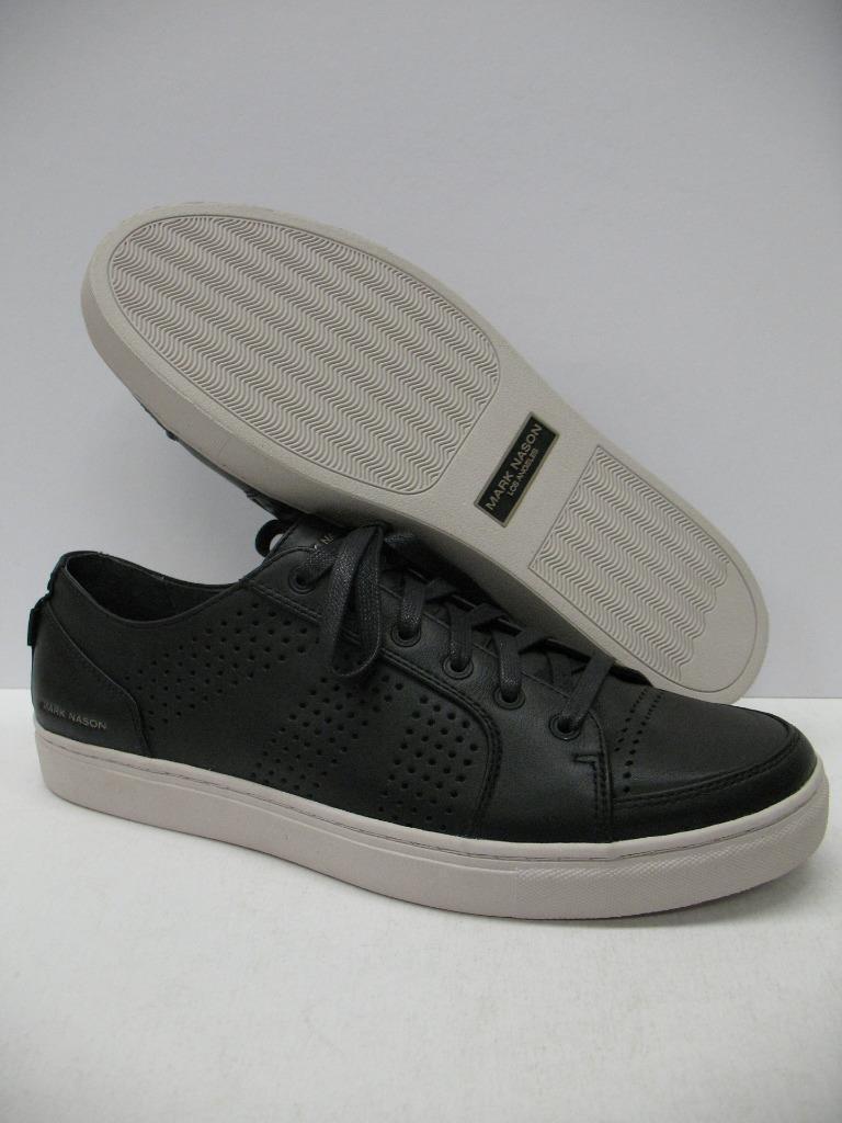 Mark Nason LA 68520 Crocker Leather Fashion Casual Shoes Sneakers Black Mens 11