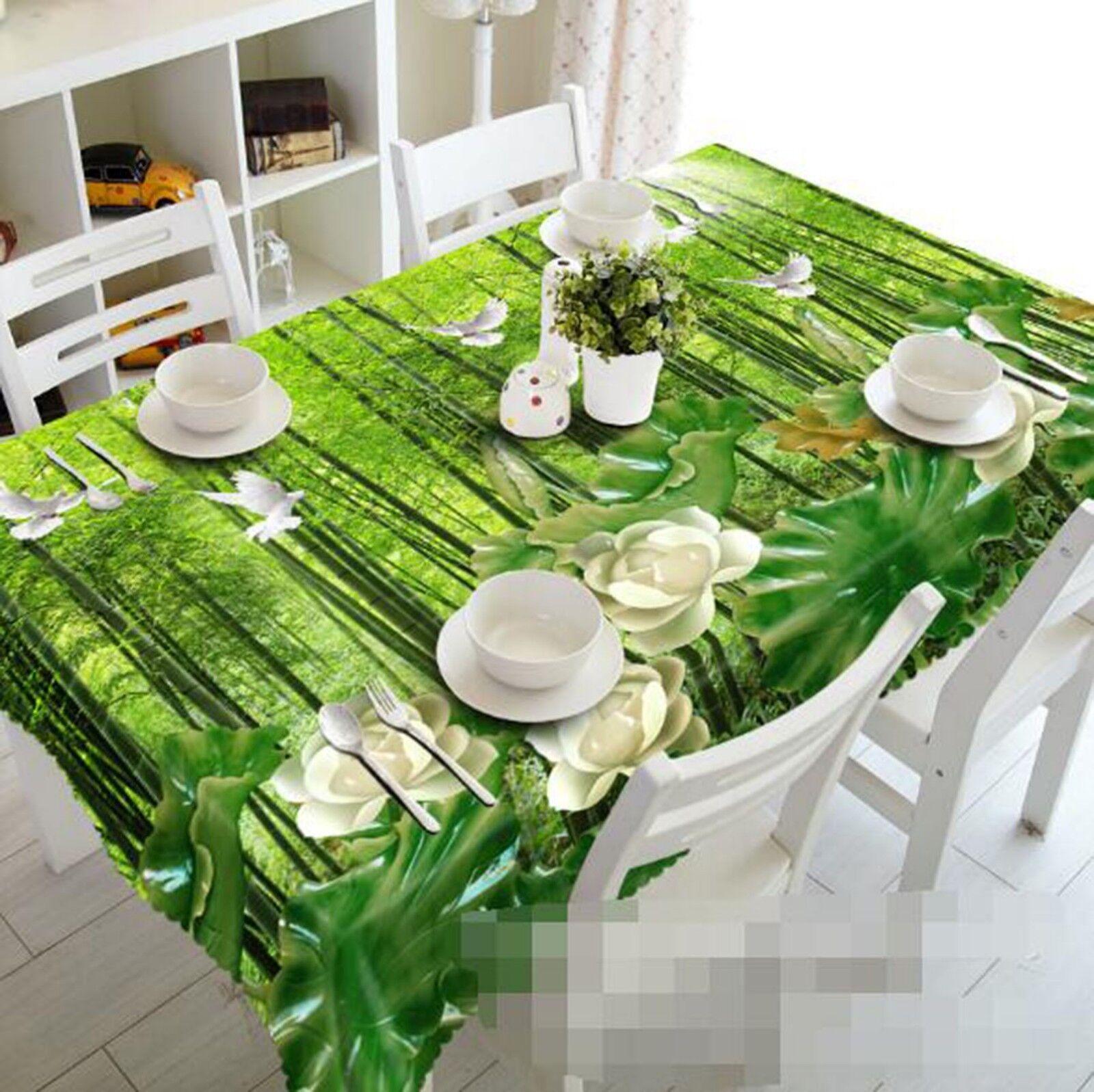 3D Bamboo Dove 054 Tablecloth Table Cover Cloth Birthday Party Event AJ Lemon
