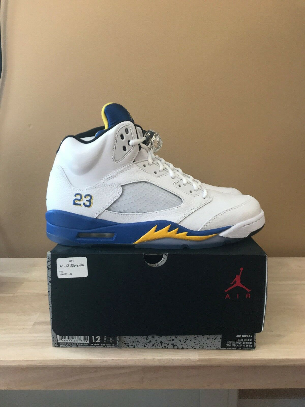 3f0aaf6ac6f Nike Mens Air Jordan 5 Retro DS Size 12 With Receipt Laney  nxdbnd1768-Athletic Shoes