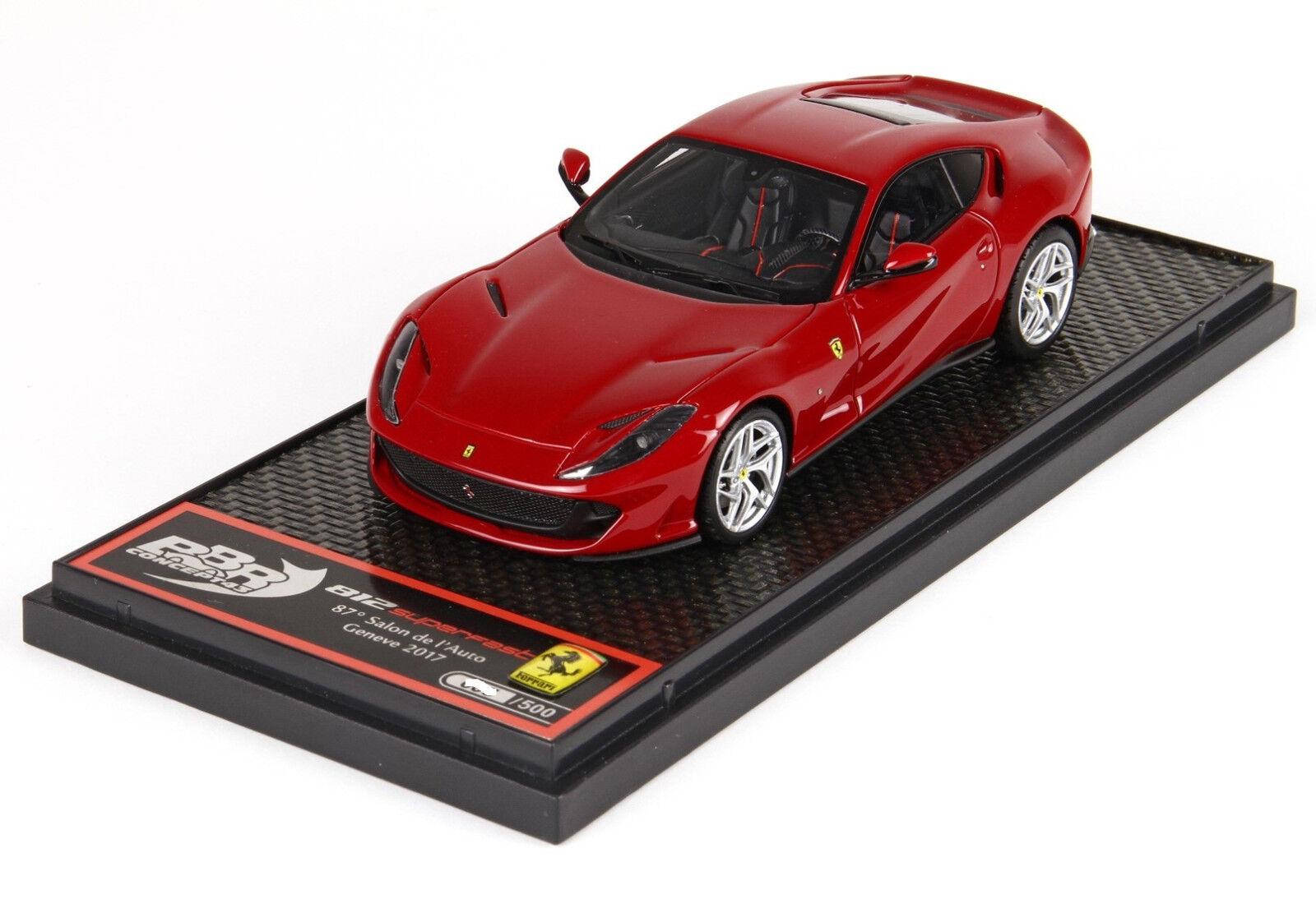 Ferrari 812 Superfast rouge 70° ann. 1 43 lim.ed. 500 pcs BBRC198A BBR Models