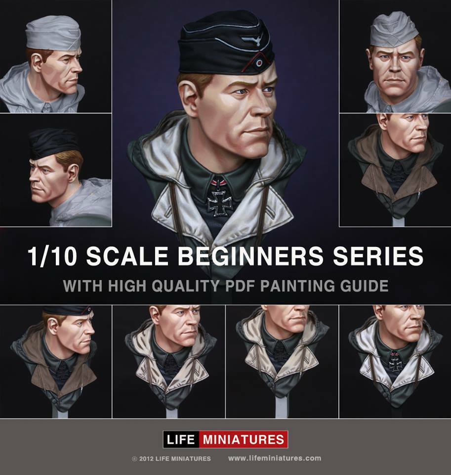Life Mins Panzer Commander WW2 + painting download 1 10th Bust Unpainted kit