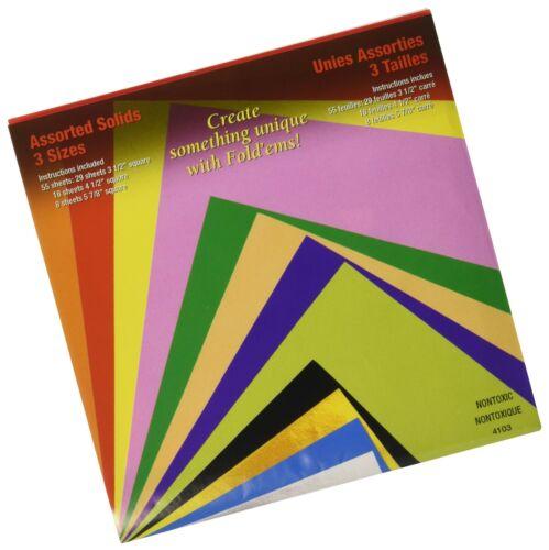 Yasutomo Fold /'Ems Origami Paper 55//Pkg-Assorted Colors