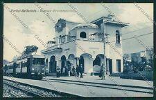 Napoli Portici Bellavista Circumvesuviana Treno Stazione cartolina EE5836