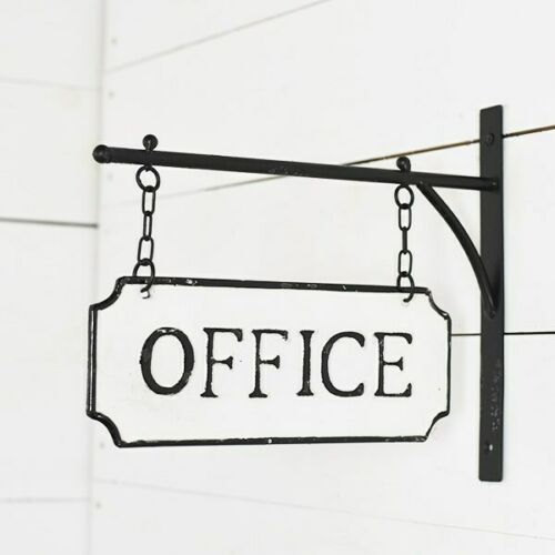 Office Sign on Wall Bracket