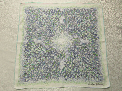 """Vintage Designer / Artist Hankie """"Carolyn Schnurer"""