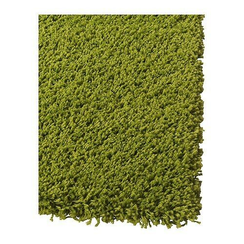 Ikea Rug High Pile Bright Green Hampen New