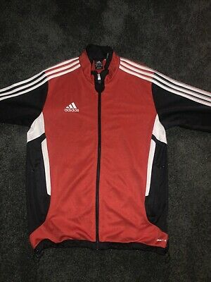 Mens Adidas Climacool Track Jacket Red & Black Stripe Size Medium RN#88387 40312 | eBay