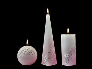 f2635bd50c8 Image is loading HANDMADE-AND-HAND-PAINTED-CANDLES-CHERRY-BLOSSOM-GIFT-