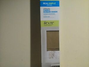 Image Is Loading New Real Simple Cordless Fabric Roman Shade 44in