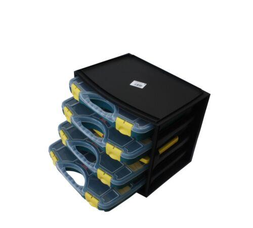 auch einzeln verfügbar f Schrauben Sortimentskasten inkl z.B 4 Sortierboxen