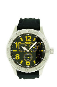I-by-Invicta-IBI41705-002-Men-039-s-Analog-Gold-Tone-Day-Date-Black-Silicone-Watch