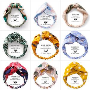 Women-Floral-Head-Twist-Headband-Cross-Knot-Elastic-Hair-Band-Turban-Hairband