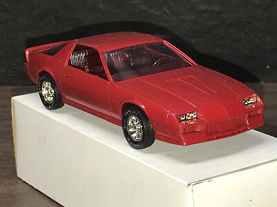 1988 CHEVY CAMARO IROC PROMO MODEL IN MEDIUM ORANGE   1.24 NEW IN THE BOX