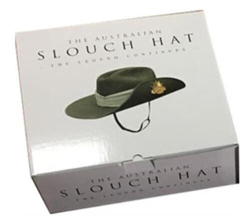 Australian Army Wool Felt Slouch Hat Rising Sun Badge Puggaree Chin Strap 57-60