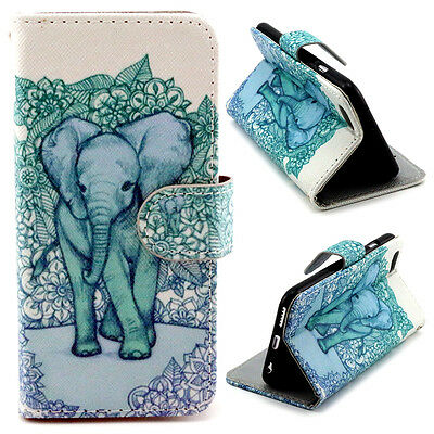 Elephant Hybrid Flip Wallet card slot PU Leather Stand Case Cover for phones