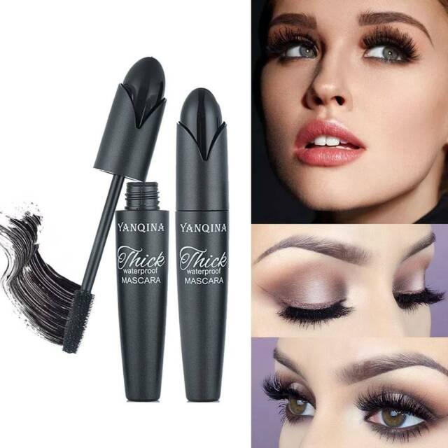 eeaa959269d Black 4D Silk Fiber Eyelash Mascara Waterproof Extension Eye Lashes Makeup  Kits