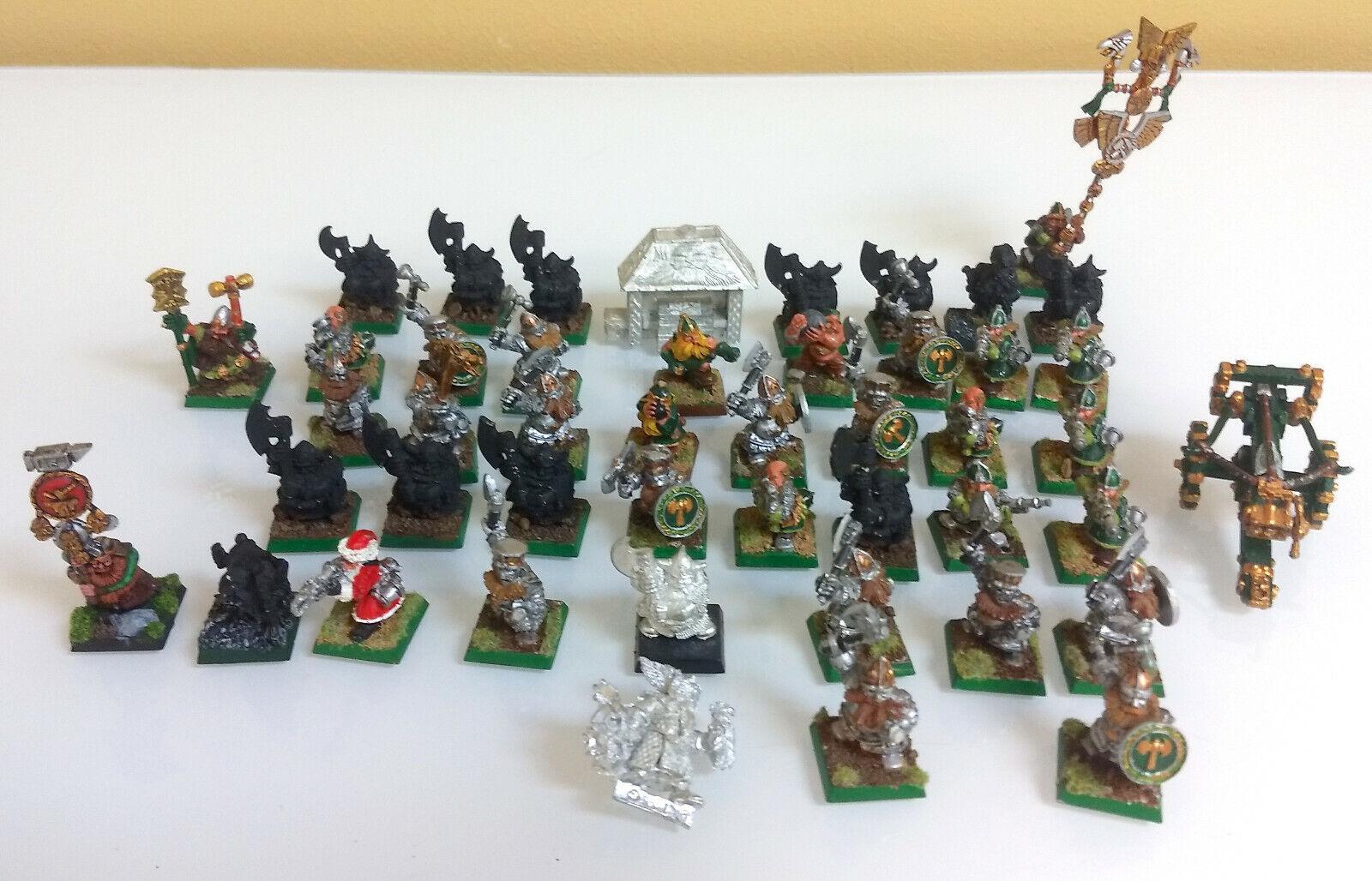 Lote De Juegos taller Warhammer Fantasy enanos metal pintado sin pintar caso enano