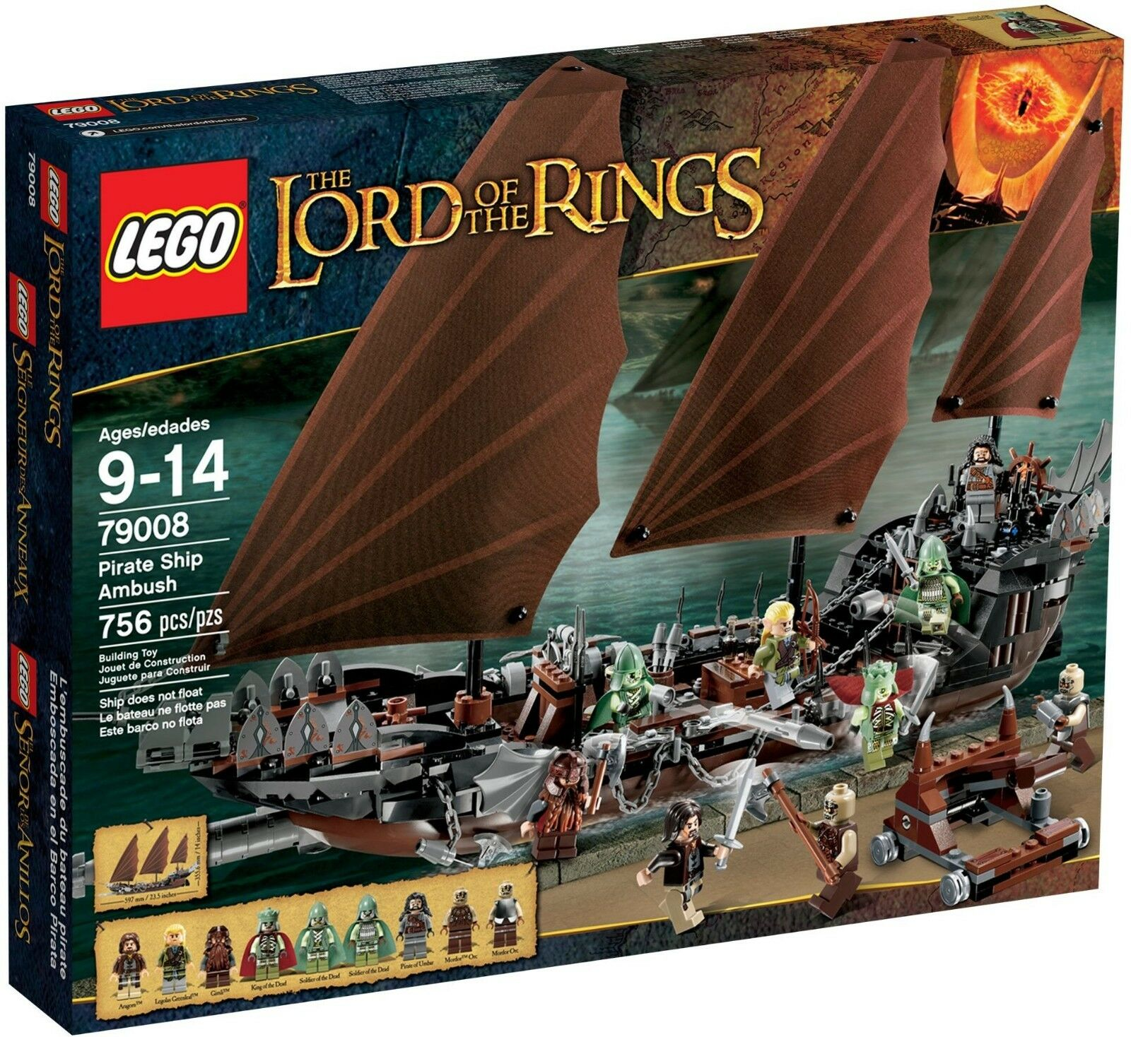 LEGO 79008 PIRATE SHIP AMBUSH THE HOBBIT LOTR RETIROT  BRAND NEW  FAST SHIPPING