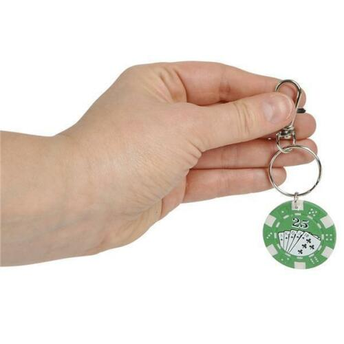 12 POKER CHIP KEYCHAINS Casino Quality Texas Hold /'Em Lucky Coin #ST30 Free Ship