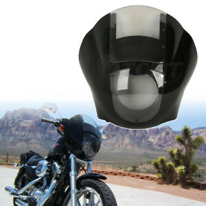 Black-Quarter-Fairing-Clear-Windshield-Kit-For-Harley-Davidson-Sportster-XL-Dyna