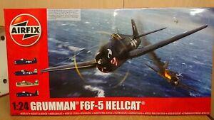 Airfix-A19004-Grumman-F6F-5-Hellcat-WWII-Aircraft-LARGE-1-24-scale-model-Kit