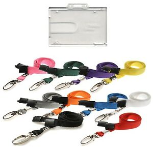 Badge-Buddy-ID-Card-Holder-amp-ID-Neck-Strap-Lanyard-With-Lobster-Clip-lot