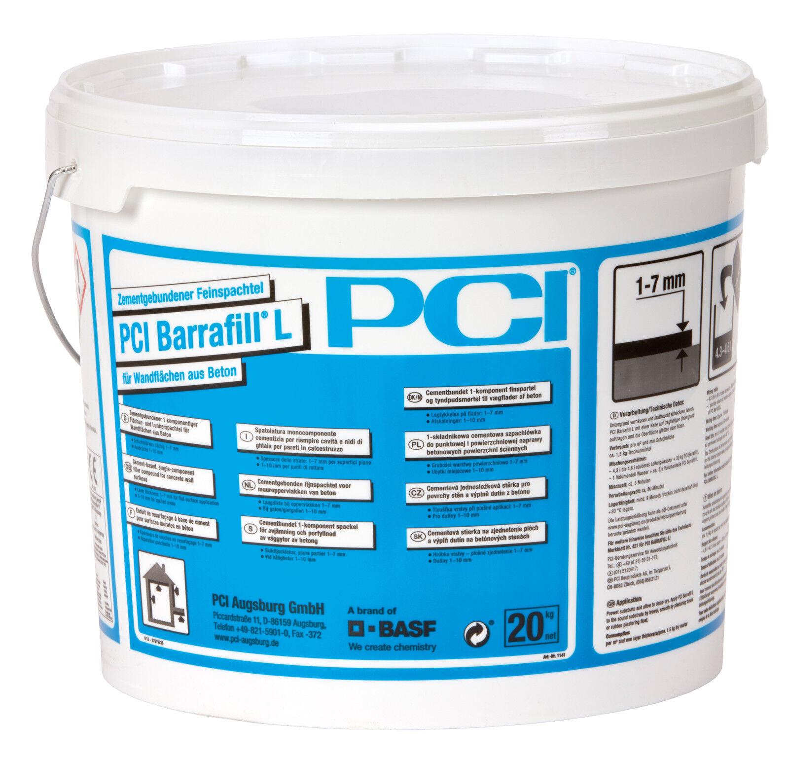 PCI Barrafill L 20 kg Hellgrau Feinspachtel Betonspachtel Beton-Kosmetik