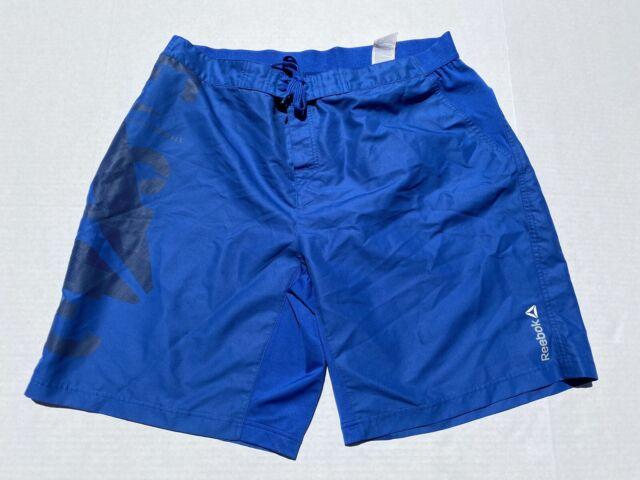 Reebok Crossfit Mens Blue Stronger Every Rep Training Mens Athletic Shorts XL