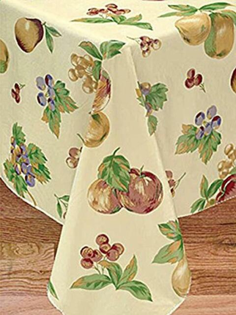 Broder Manufacturing Inc Apple Delicious Flannel Backed Vinyl Tablecloth 52x70 For Sale Online Ebay
