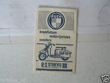 SUKERZAKJE SUGAR BAG PUCH SCOOTER R.S. STOKVIS BROMFIETSEN MOTORIJWIELEN SCOOTER