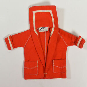 Vintage-50s-Barbie-Mattel-RESORT-SET-Red-Sailor-Jacket-Coat-Style-967