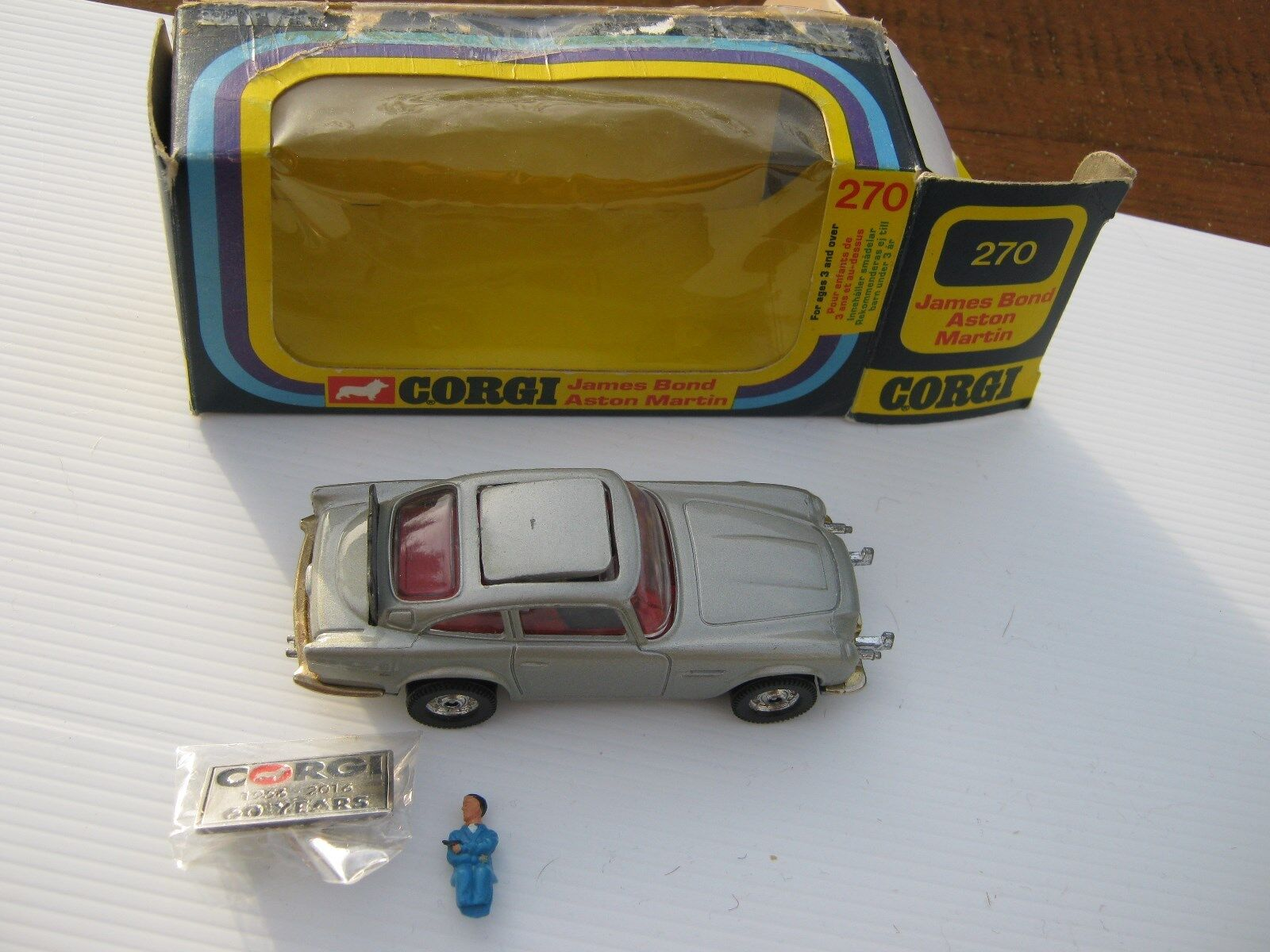 CORGI 270 originale Aston Whizzwheels auto da 1978, come descritto indossato ORIG BOX