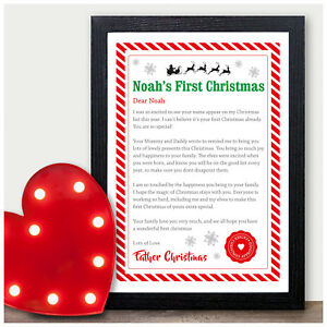 babies first christmas letter from father christmas santa baby 1st