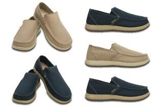 Crocs-Mens-Santa-Loafers-Cruz-Clean-Cut-Slip-on-Canvas-Casual