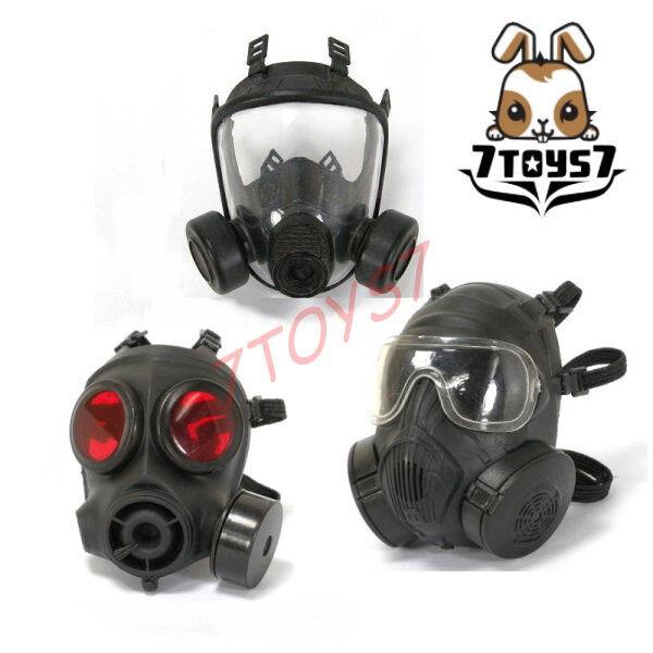 ACI Toys 1 6 Gas Gas Gas Mask_ Set 3 _SAS GSG9 GIGN SEAL Division RAID Army SWAT AT069Z 36309c