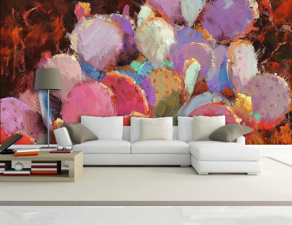 3D Viele Bunte kaktus 0932 Fototapeten Wandbild Fototapete BildTapete Familie DE