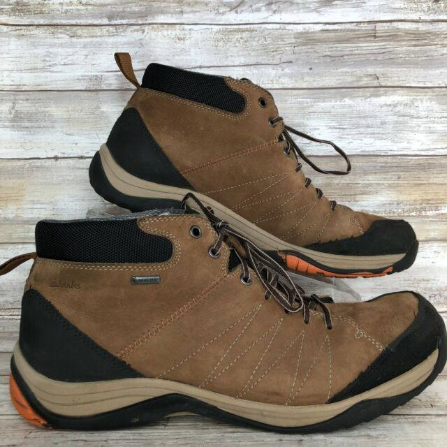 6062958bdc966 Clarks Mens 10M Gore-Tex Brown Nubuck Leather Ankle Boot Hiking Casual Lace  Up