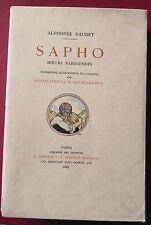 Alphonse DAUDET - Sapho -  Illustré par AUGUSTE LEROUX - Ferroud 1925