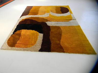 large eames era op art midcentury 70s german pop art vintage shag rug loft size