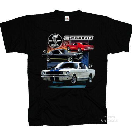Ford Licensed Cobra Vintagecar Mustang Muscle Car Shelby Automotive T-Shirt 0189