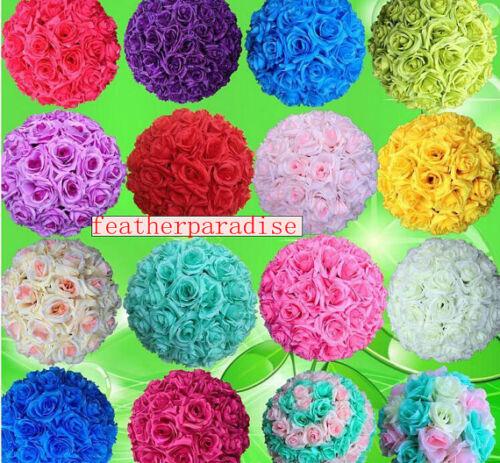 Orange Rose Flower Ball Pomander Wedding decoratin Ball Kissing Ball 9-10 inch