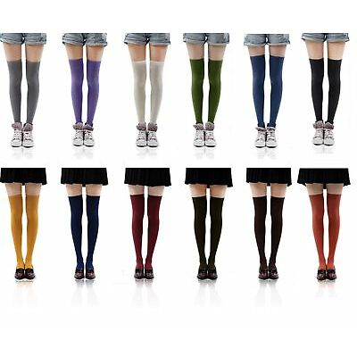 New Hot Womens Ladies Girls Fashion Thigh High Over Knee Socks Stockings