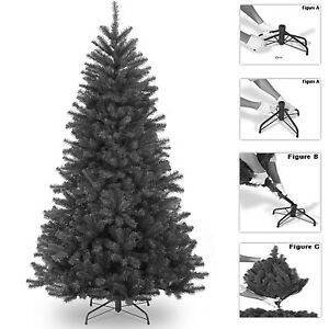 super 5ft 6ft 7ft black colorado artificial christmas tree pine tips