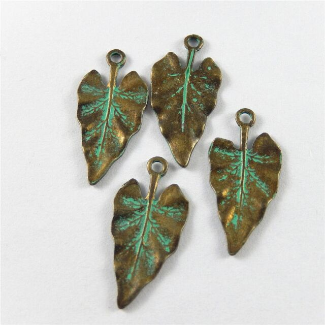 13pcs Assorted Antique Silver Maple Leaves Shape Pendants Charms Jewelry DIY