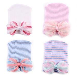 Newborn-Baby-Toddler-Soft-Bowknot-Beanie-Hat-Infant-Girl-Comfy-Warm-Hospital-Cap