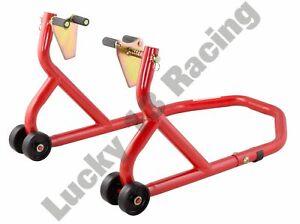 BikeTek-Series-3-Front-Track-Paddock-Stand-Red