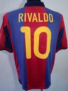 brand new 70ce2 7a0eb Details about BARCELONA FC 1999 2000 HOME SPAIN NIKE FOOTBALL SHIRT JERSEY  CAMISETA RIVALDO 10
