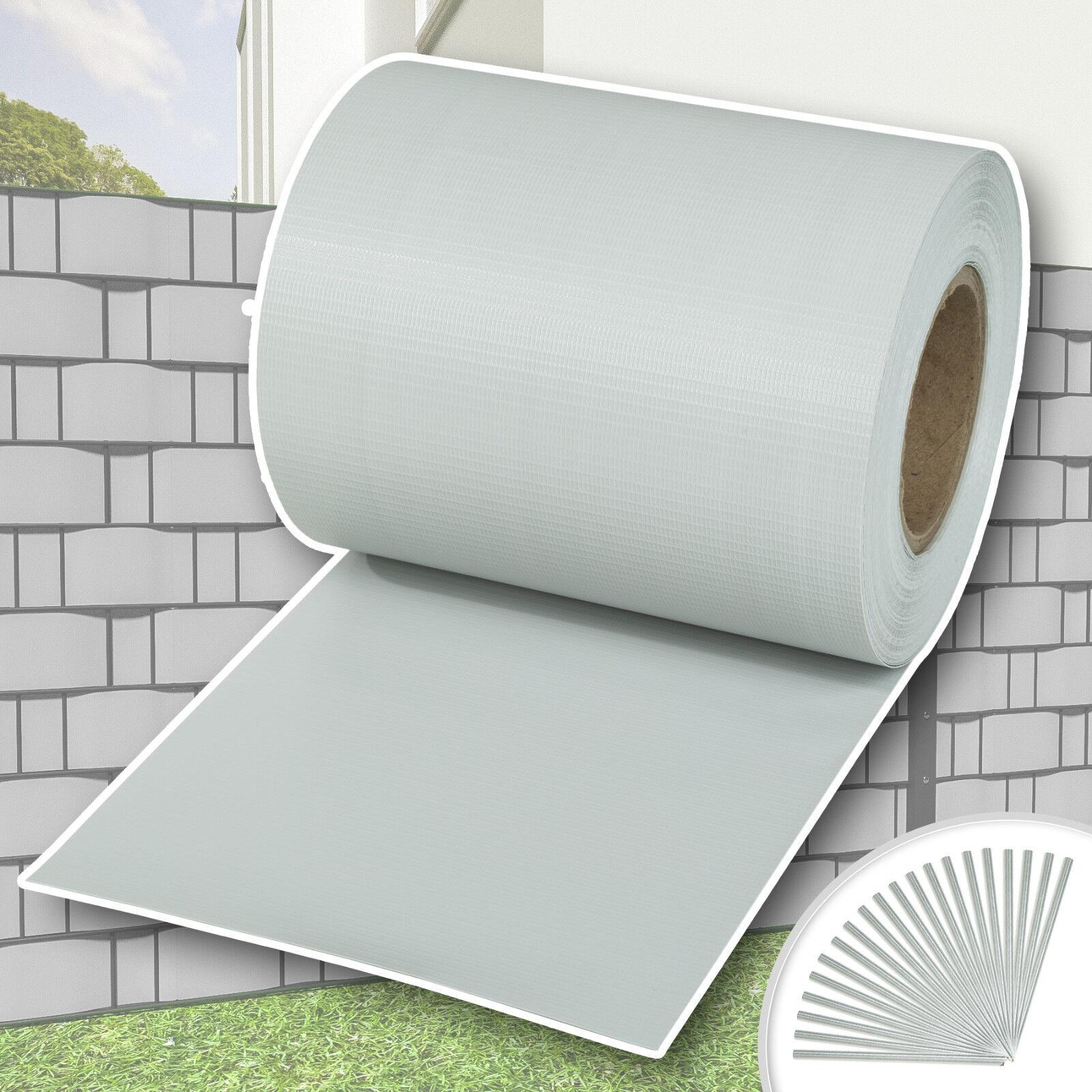 Pantalla de privacidad de detección valla jardín 70 m Rollo de malla de cubierta del panel luz de papel de aluminio gris