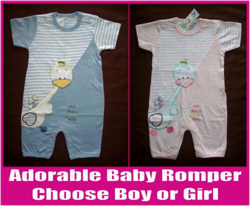 2x BABY SOFT BodySuit Sz 0 3 6 12 mths CUTE One-Piece ROMPER BOY or GIRL  New