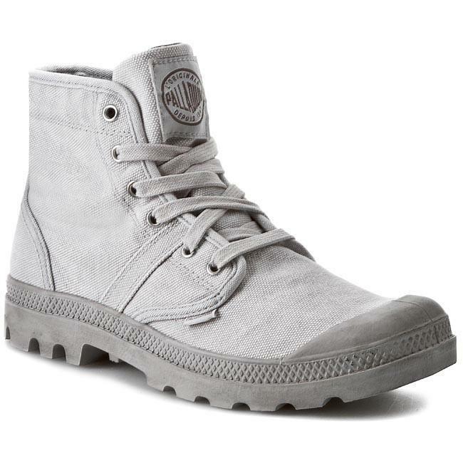 Palladium Pallabrouse Hombre botas Para Excursionismo botas lavado a la piedra Vapor De Lona Metal